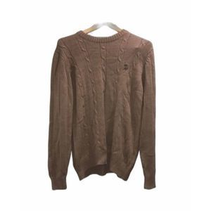 Polo tan brown sweater Medium pullover cable knit
